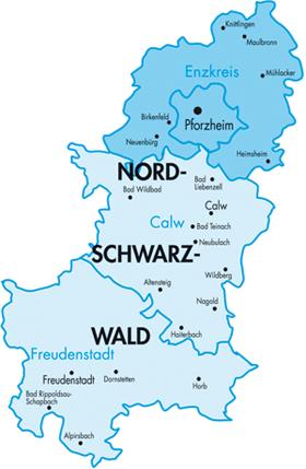 Nordschwarzwald Karte.Azv Nordschwarzwald Pforzheim
